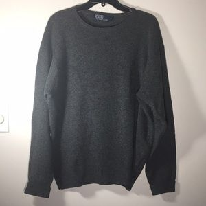 Polo Ralph Lauren Lambs wool Gray Sweater Mens L